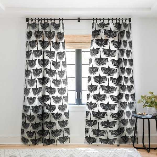 Caroline Okun Majestic Crane Single Panel Sheer Curtain - 50 x 84