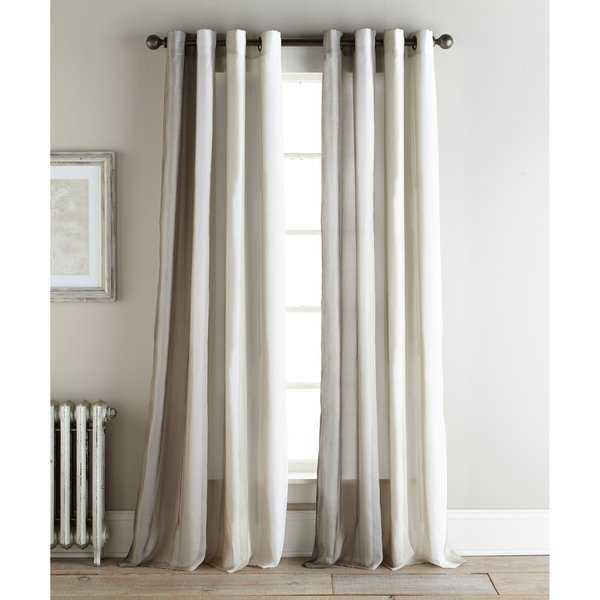 Sherry Kline Ambiance Natural 96-inch Printed Sheer Panel (Pair) - 52 X 96
