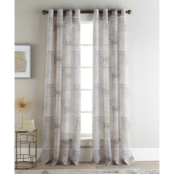 Sherry Kline Casey Natural 96-inch Printed Sheer Panel (Pair) - 52 X 96