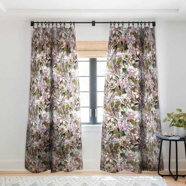 Marta Barragan Camarasa Blooming wild botanical paradise Single Panel Sheer Curtain - 50 x 84