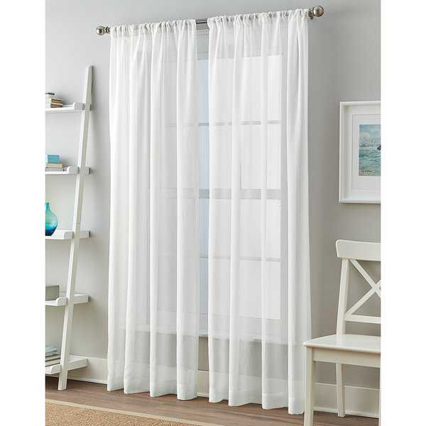 Solid Cape Sheer 84-inch Curtain Panel Pair