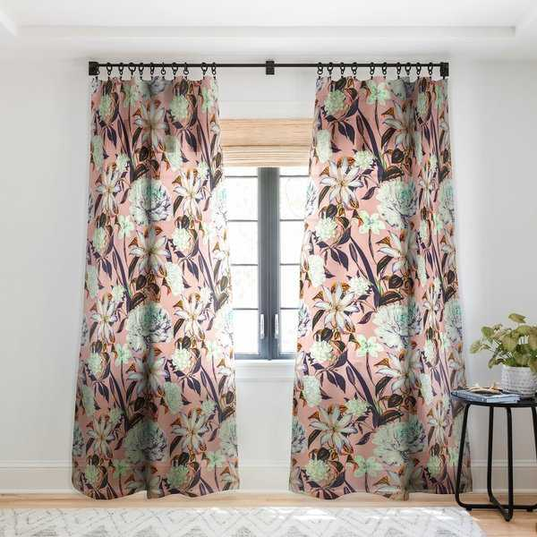 Marta Barragan Camarasa Floral vintage blooms Single Panel Sheer Curtain - 50 x 84
