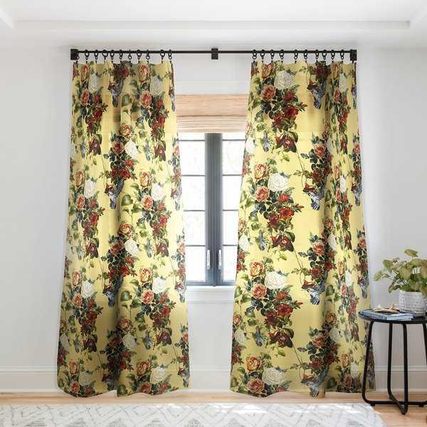 Marta Barragan Camarasa Bouquets and hummingbirds 01 Single Panel Sheer Curtain - 50 X 84