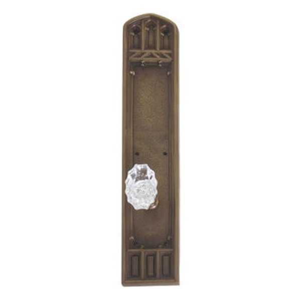 Brass Accents Interior Door Plate Double Dummy Set - Aged Brass