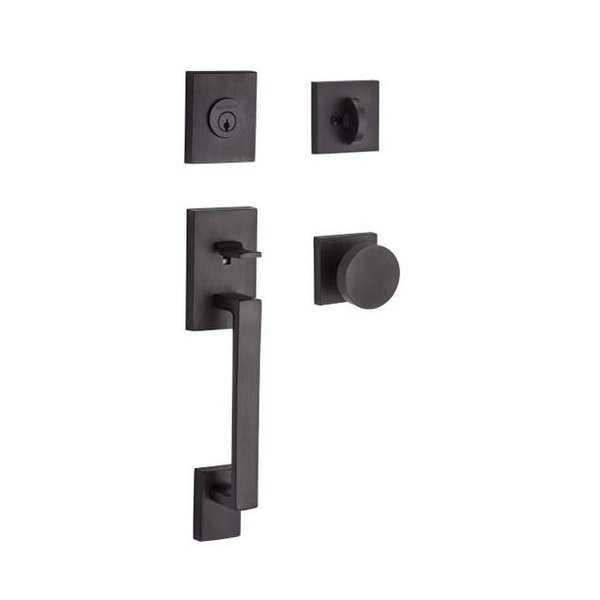 Single Cylinder La Jolla Handleset Contemporary Knob Contemporary