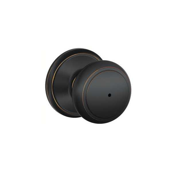 Schlage F40-AND Andover Privacy Door Knob Set from the F-Series - N/A