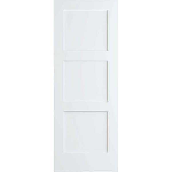 Frameport SHK-PD-F3P-8X2 Shaker 24' by 96' Flat 3 Panel Interior Passage Door - Primed - N/A