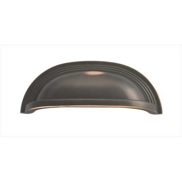 Hickory Hardware 96mm Deco Oil-Rubbed Bronze Cabinet Cup Pull