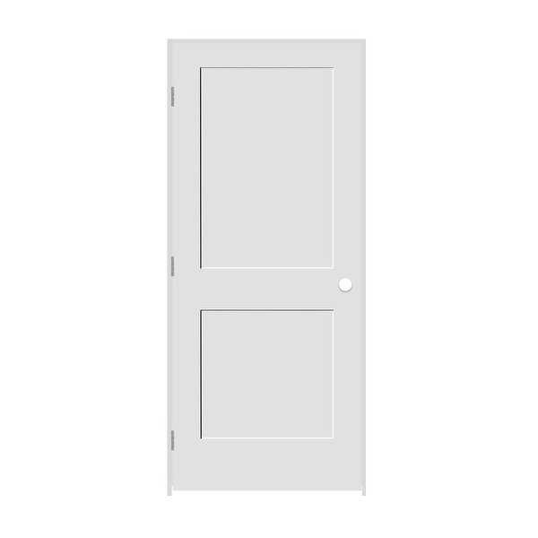 Trimlite 2268138-8402RH26D4916 26' by 80' Shaker 2-Panel Right Handed Interior P - Primed - N/A