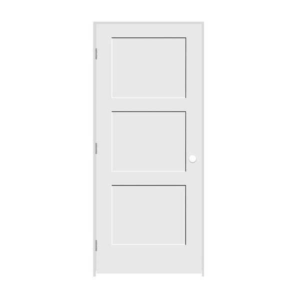 Trimlite 2668138-8433RH15714 30' by 80' Shaker 3-Panel Right Handed Interior Pre - Primed - N/A