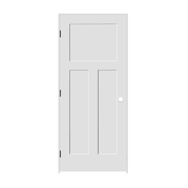 Trimlite 2168138-8403RH10B6916 34' by 80' Shaker 1+2-Panel Right Handed Interior - Primed - N/A