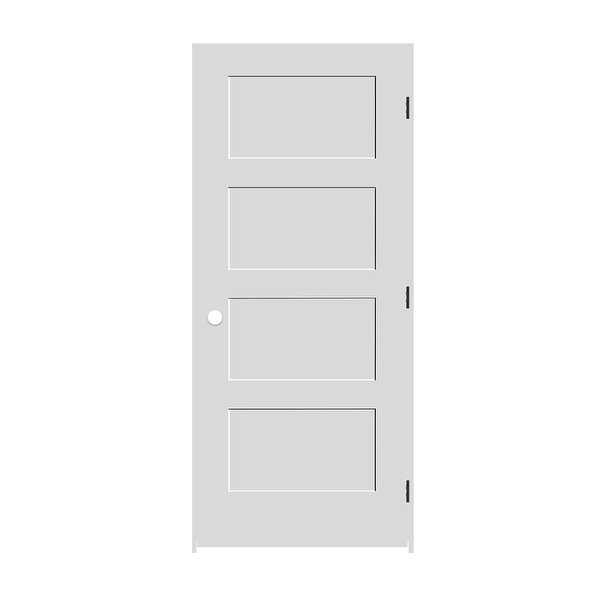 Trimlite 2668138-8444LH10B714 30' by 80' Shaker 4-Panel Left Handed Interior Pre - Primed - N/A
