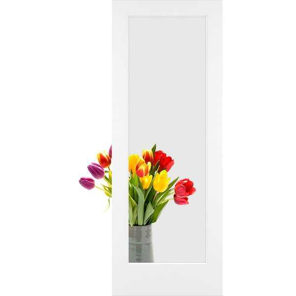 Frameport CGL-PD-1L-8X3 Clear Glass 36' by 96' 1 Lite Interior Passage Door - Primed - N/A