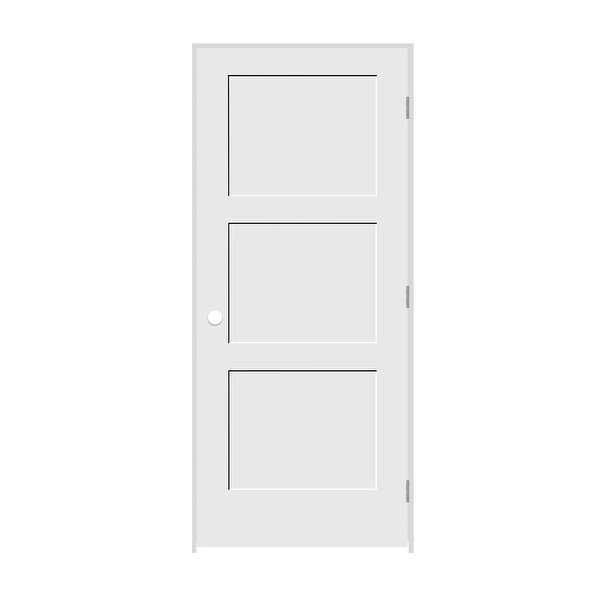 Trimlite 2468138-8433LH156916 28' by 80' Shaker 3-Panel Left Handed Interior Pre - Primed - N/A