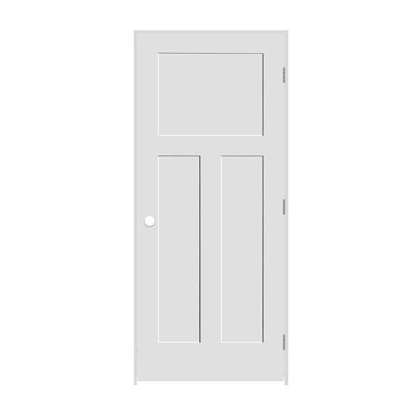 Trimlite 2268138-8403LH26D6916 26' by 80' Shaker 1+2-Panel Left Handed Interior - Primed - N/A
