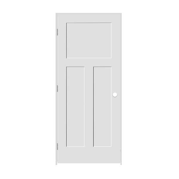 Trimlite 2468138-8403RH154916 28' by 80' Shaker 1+2-Panel Right Handed Interior - Primed - N/A